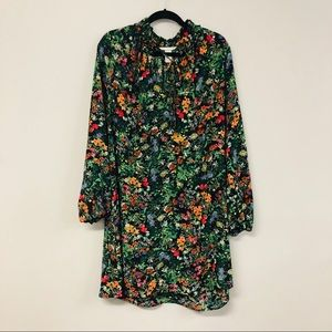 H & M Size 12 Black/multi Floral Dress